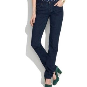 Madewell | 28 Indigo Rail Straight Leg Jeans